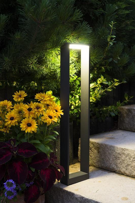 Lampa stojąca ogrodowa Form LED YB19502 Ciemny popiel IP54 - Su-ma